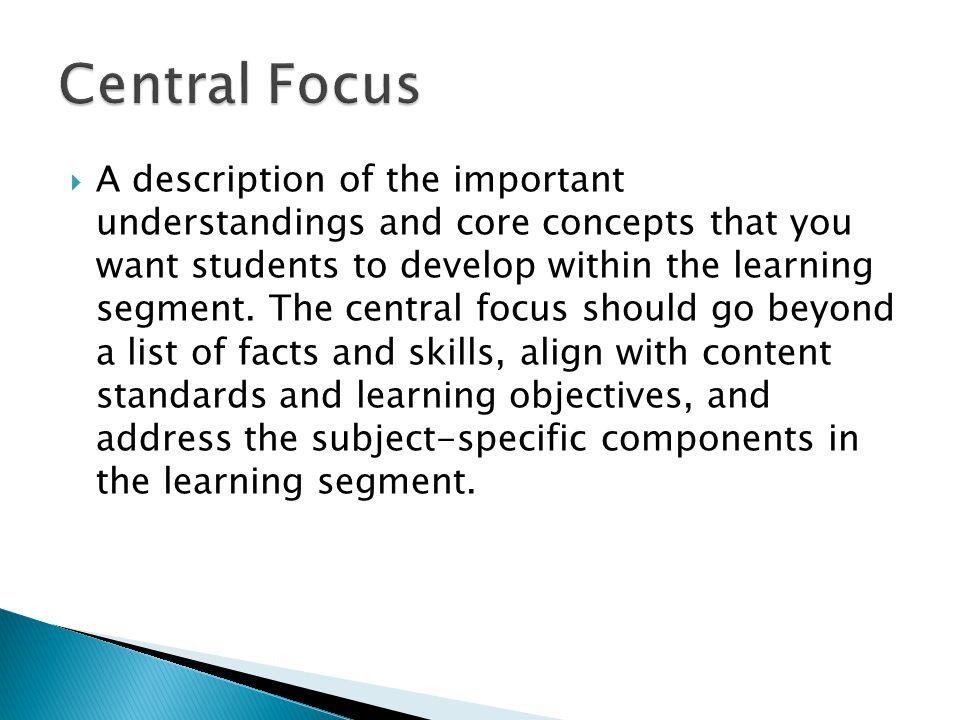 Central Focus