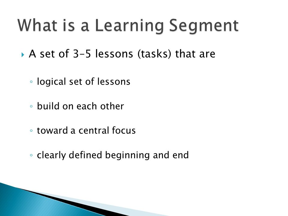 What is a Learning Segment
