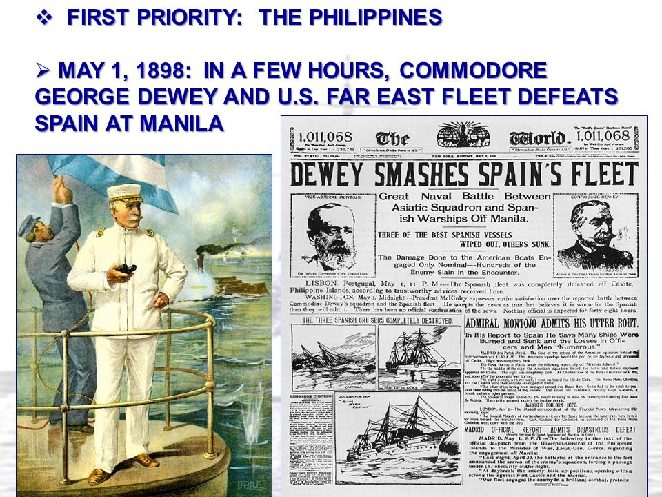 FIRST PRIORITY: THE PHILIPPINES