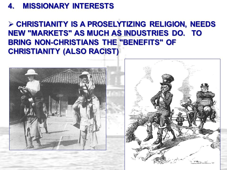 4. MISSIONARY INTERESTS