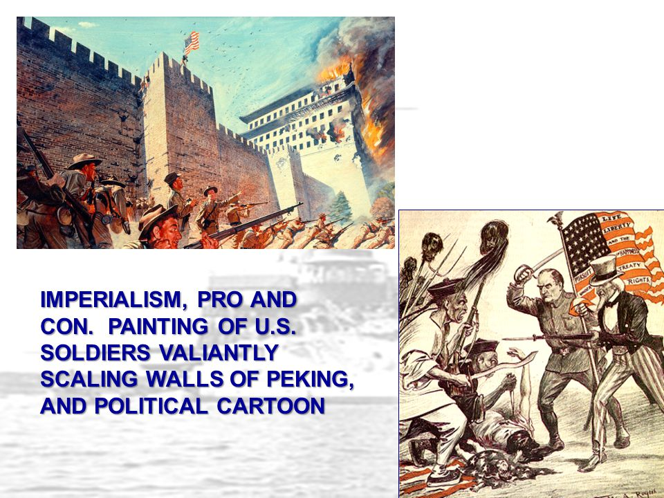 IMPERIALISM, PRO AND CON. PAINTING OF U. S