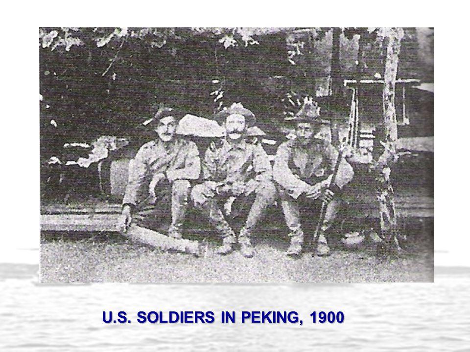 U.S. SOLDIERS IN PEKING, 1900