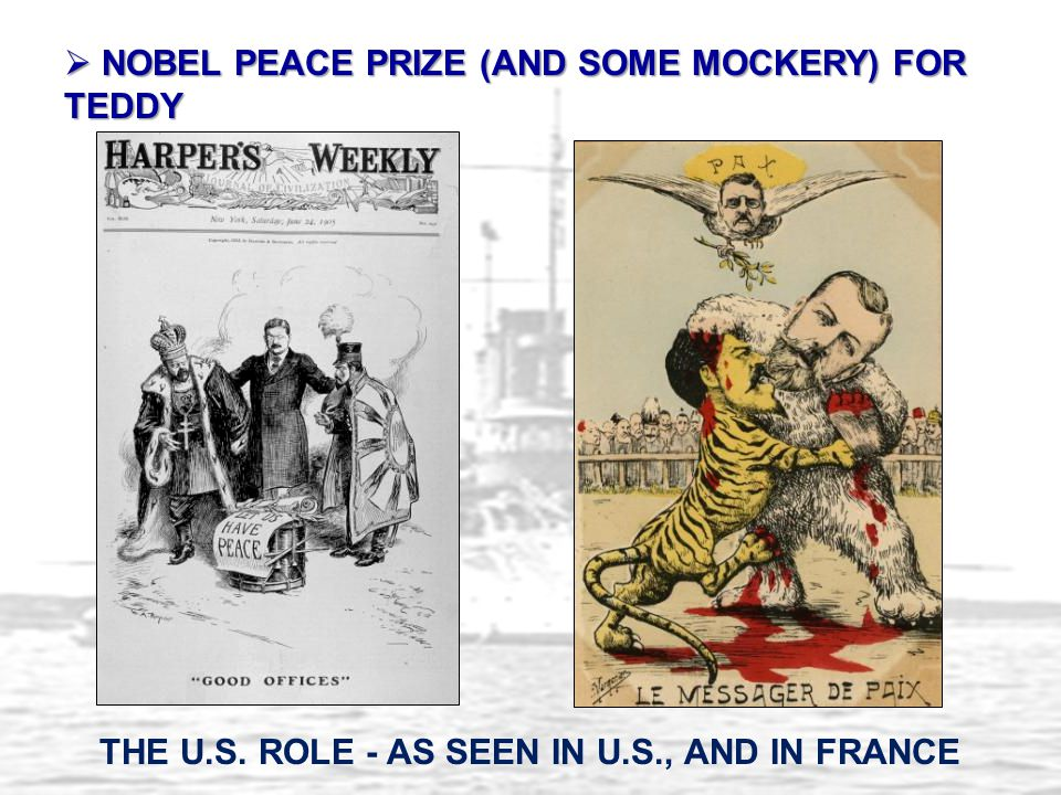 NOBEL PEACE PRIZE (AND SOME MOCKERY) FOR TEDDY
