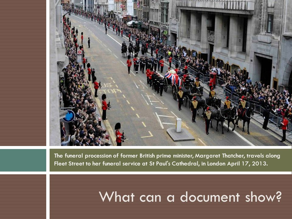 What can a document show