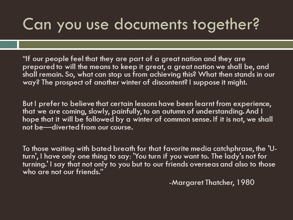 Can you use documents together