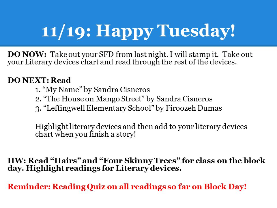11/19: Happy Tuesday!