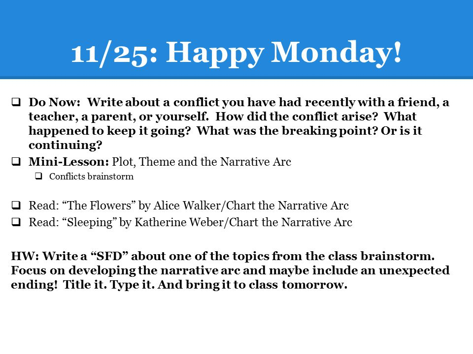 11/25: Happy Monday!