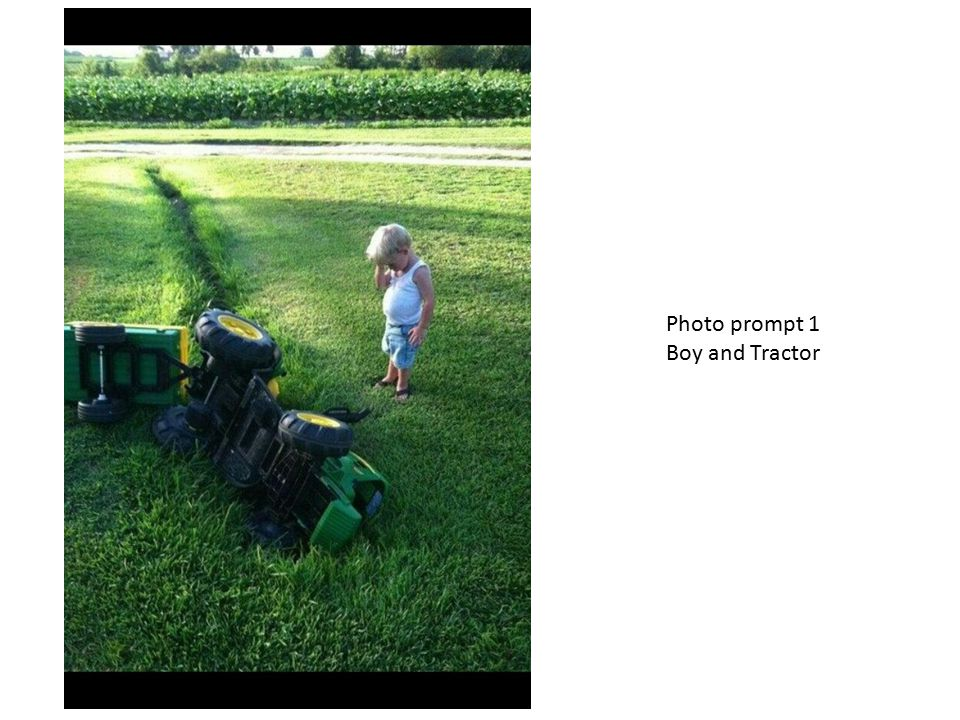 Photo prompt 1 Boy and Tractor