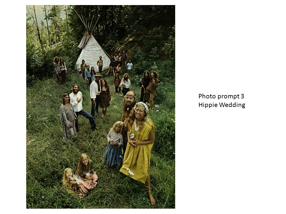 Photo prompt 3 Hippie Wedding