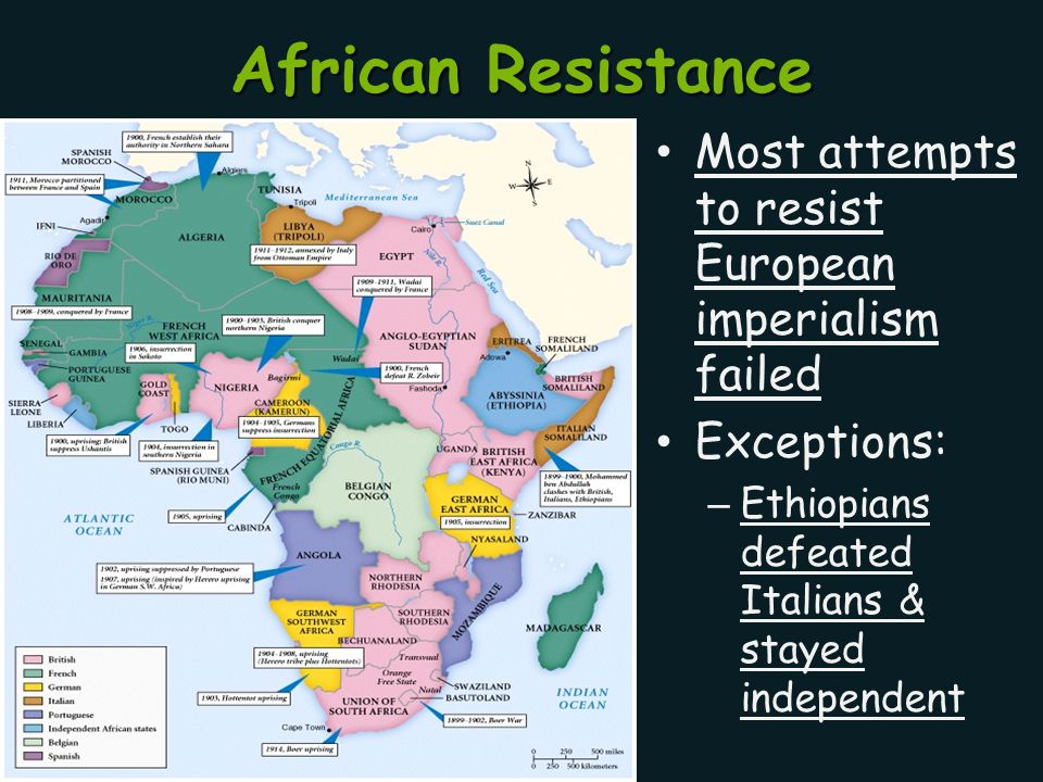 African Resistance Most attempts to resist European imperialism failed
