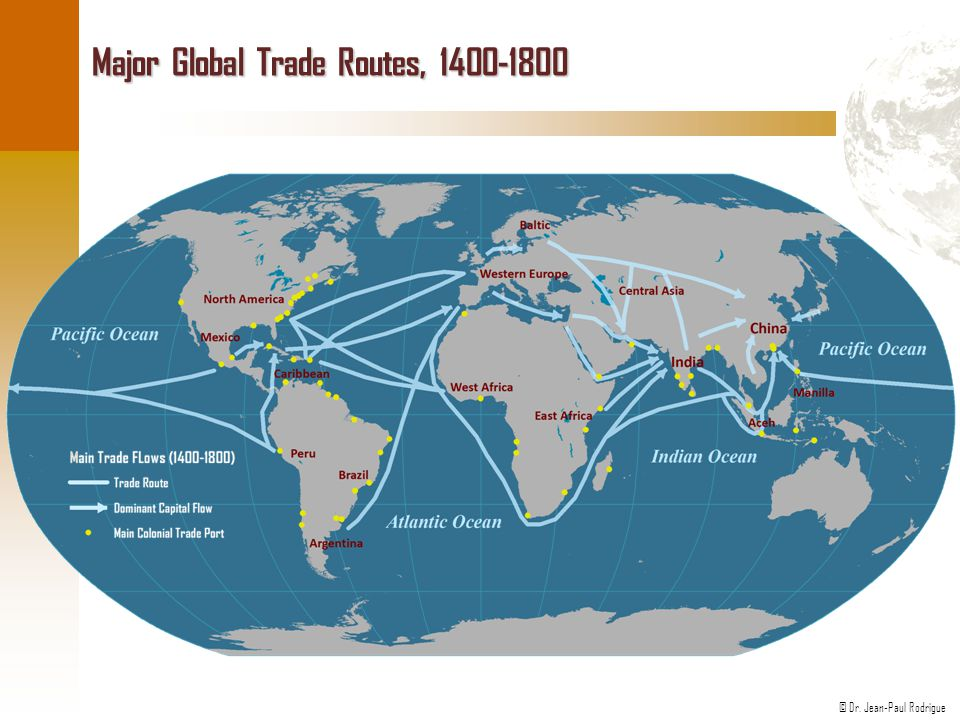 Major Global Trade Routes, 1400-1800