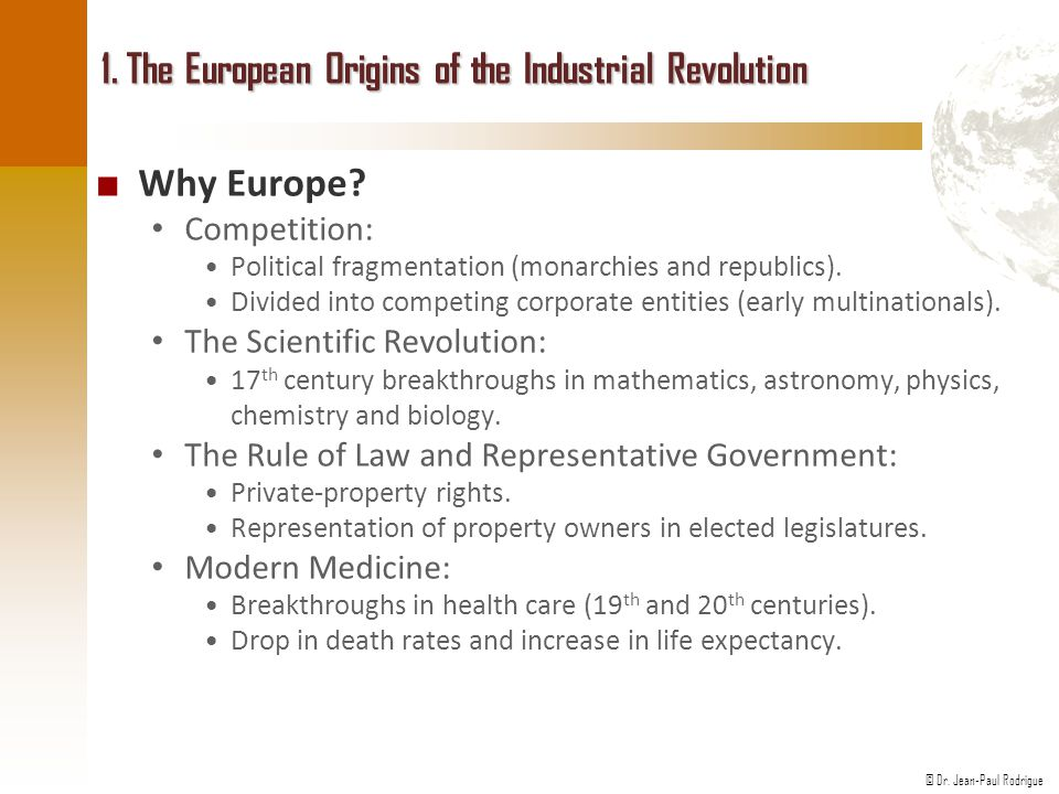 1. The European Origins of the Industrial Revolution