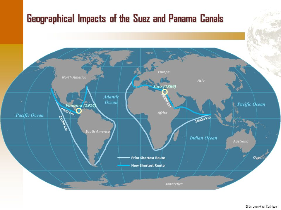 Geographical Impacts of the Suez and Panama Canals