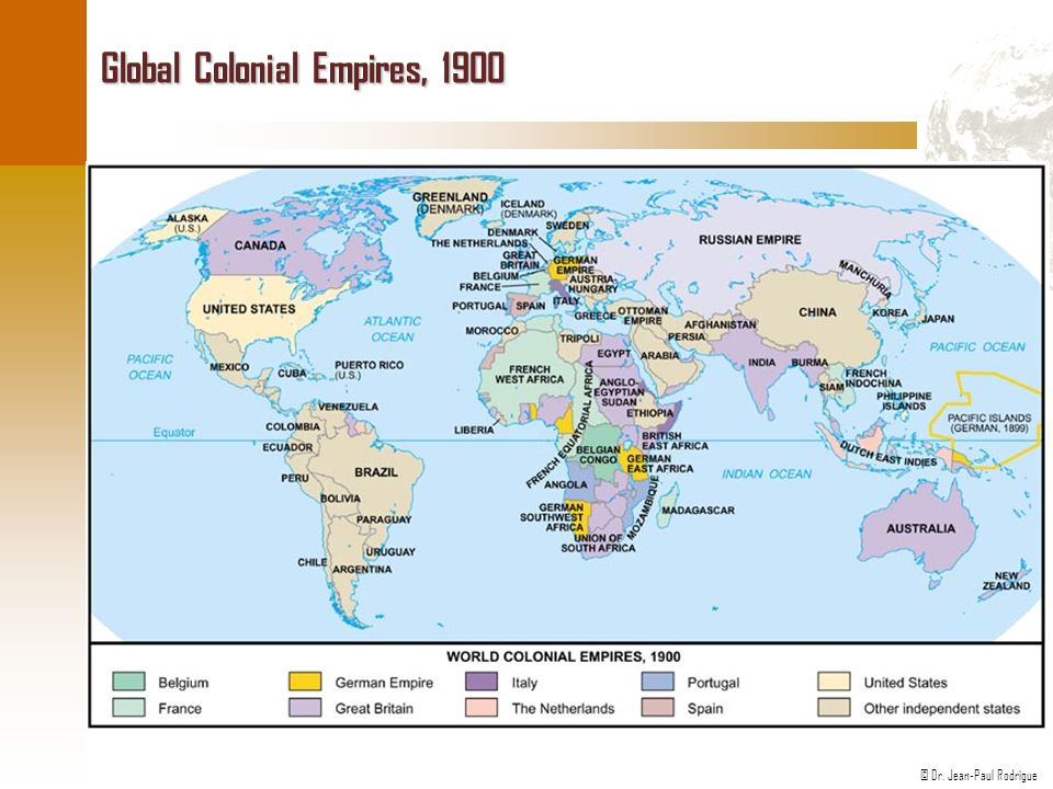 Global Colonial Empires, 1900