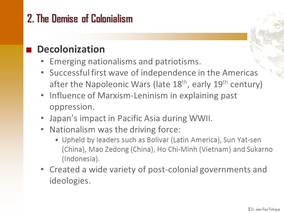 2. The Demise of Colonialism