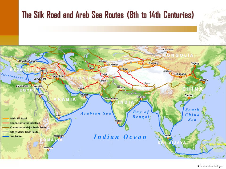 The Silk Road and Arab Sea Routes (8th to 14th Centuries)
