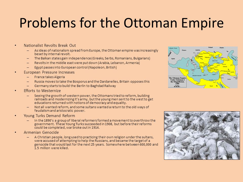 Problems for the Ottoman Empire