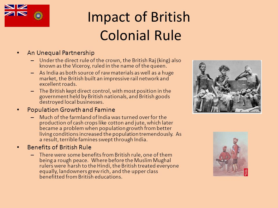 Impact of British Colonial Rule