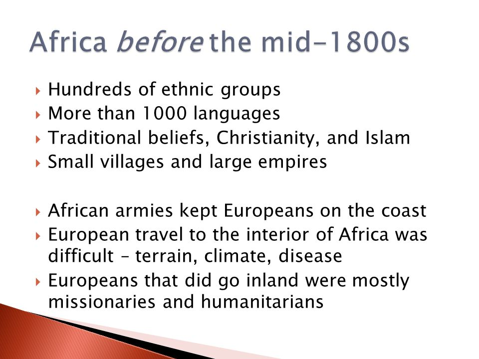 Africa before the mid-1800s