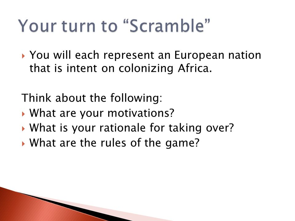 Your turn to Scramble
