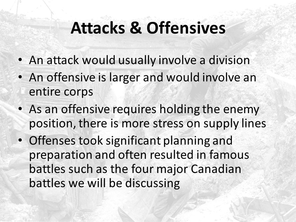 Attacks & Offensives An attack would usually involve a division
