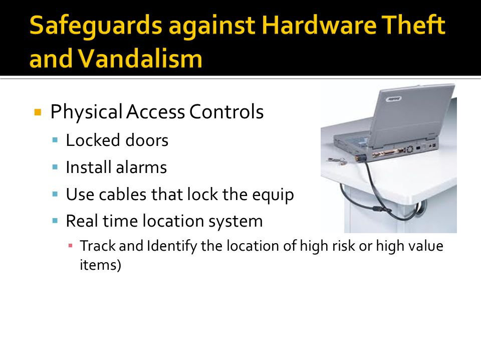Safeguards against Hardware Theft and Vandalism
