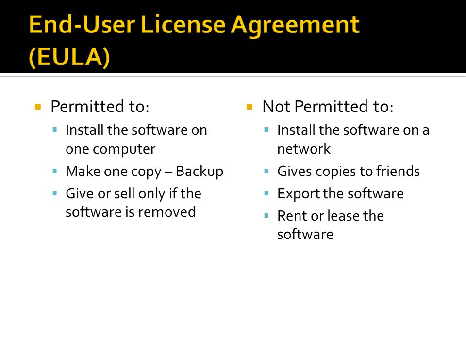 End-User License Agreement (EULA)