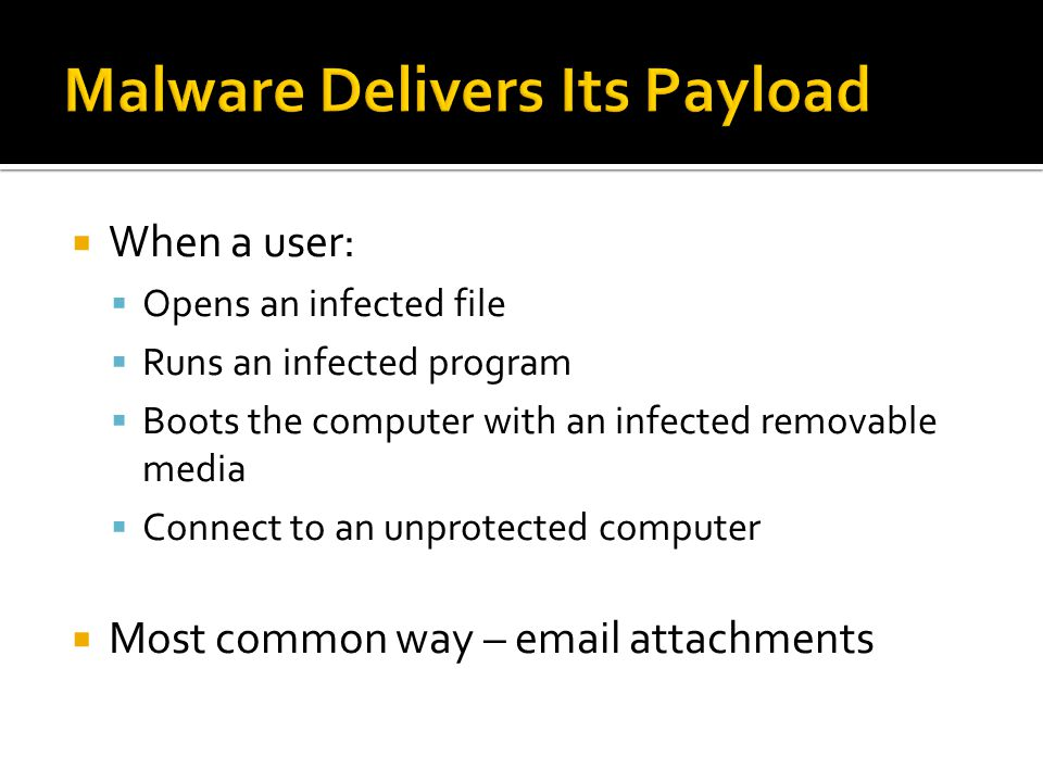 Malware Delivers Its Payload