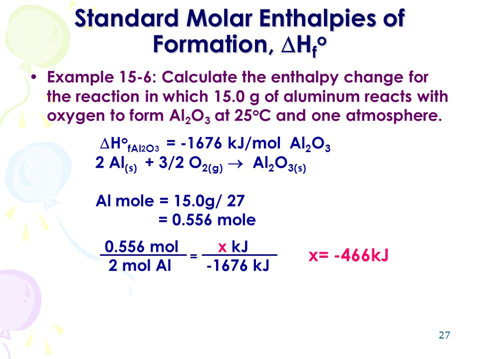 Standard Molar Enthalpies of Formation, Hfo