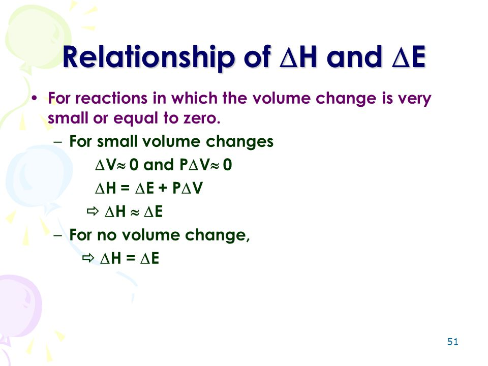 Relationship of H and E