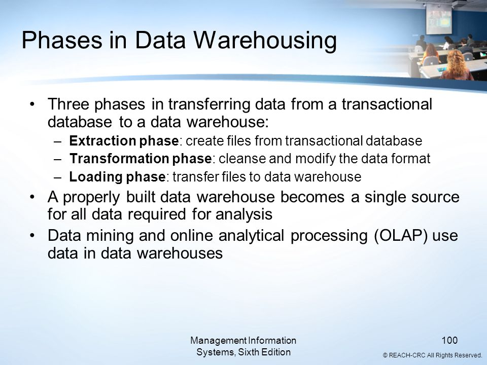 Phases in Data Warehousing