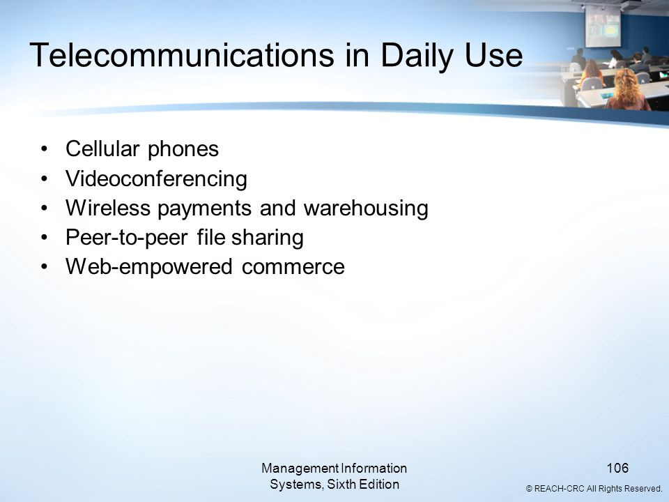 Telecommunications in Daily Use