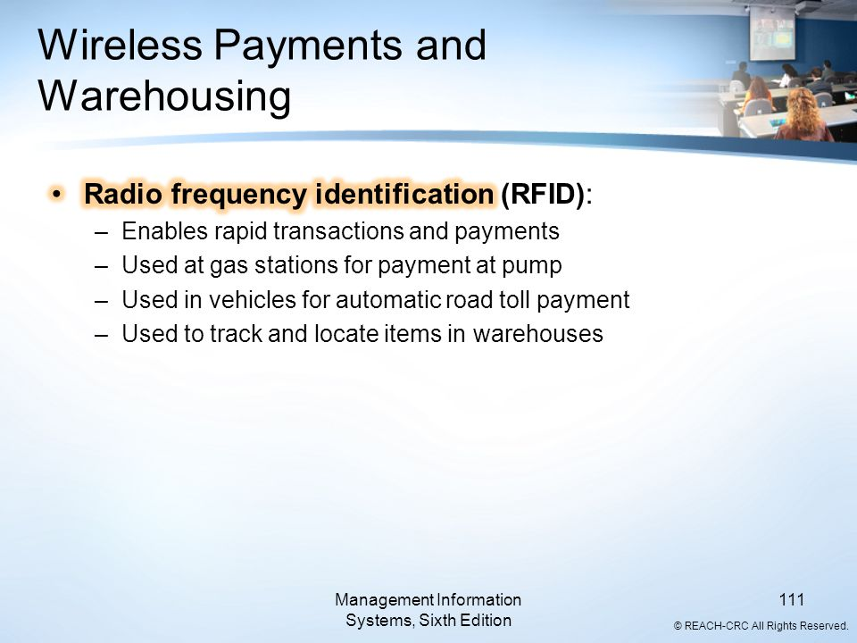 Wireless Payments and Warehousing