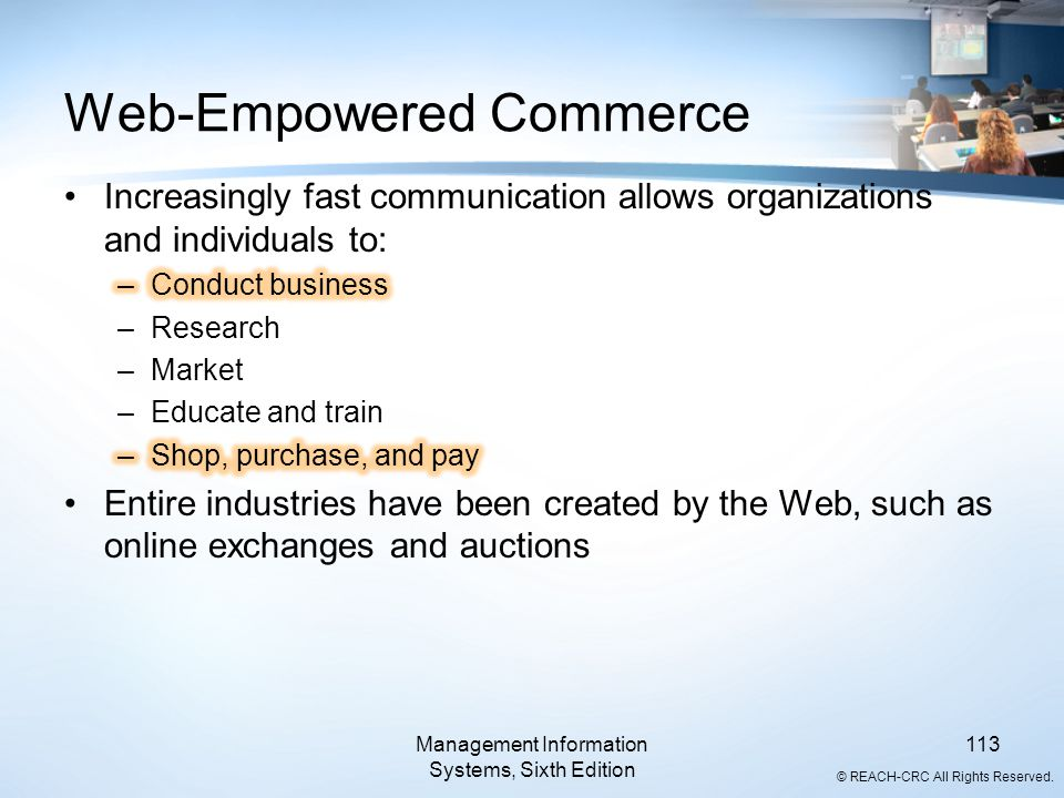 Web-Empowered Commerce
