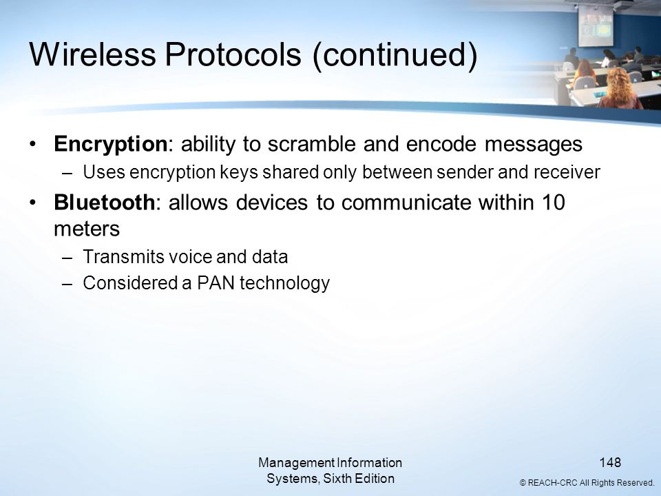 Wireless Protocols (continued)