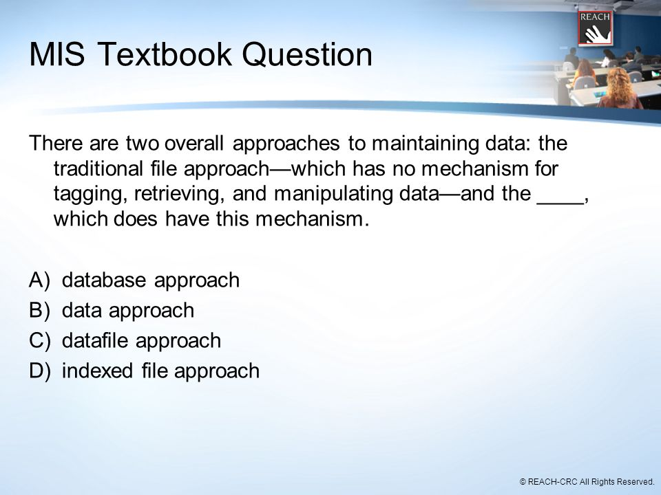 MIS Textbook Question