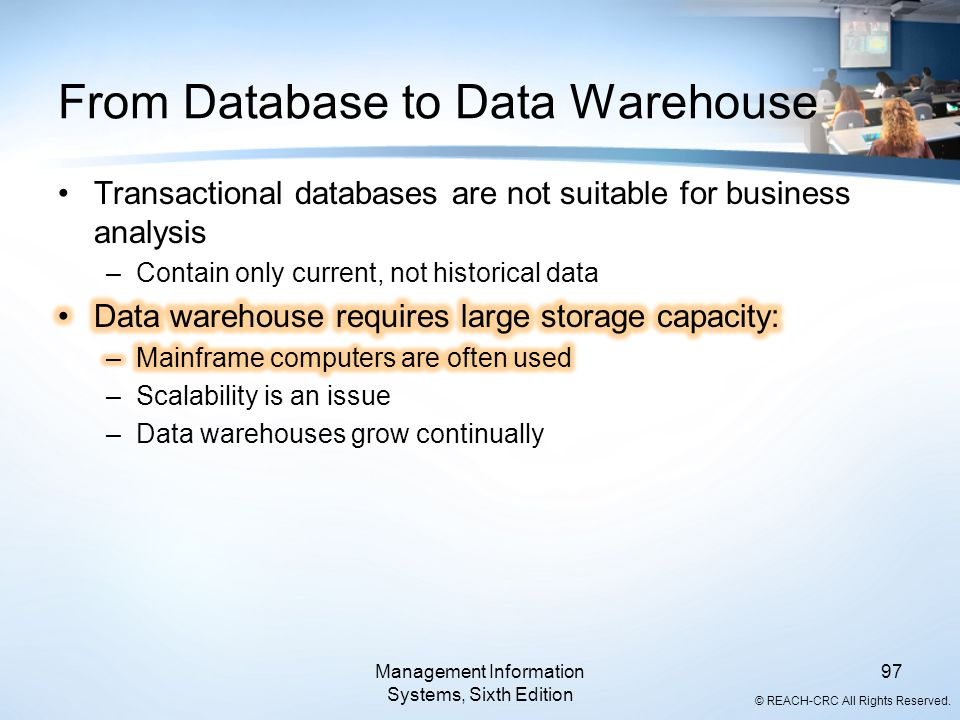 From Database to Data Warehouse