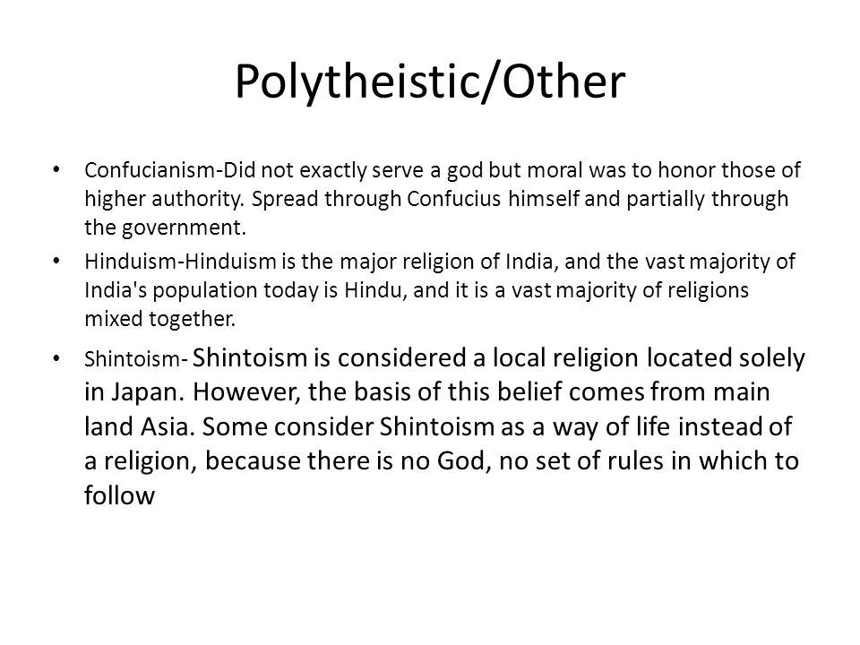 Polytheistic/Other