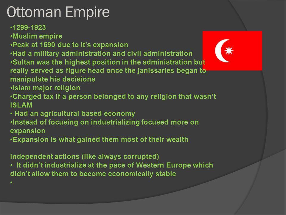 Ottoman Empire 1299-1923 Muslim empire