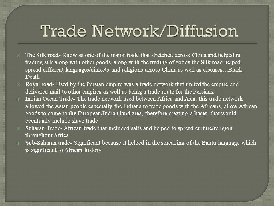 Trade Network/Diffusion