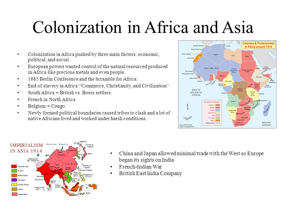 Colonization in Africa and Asia