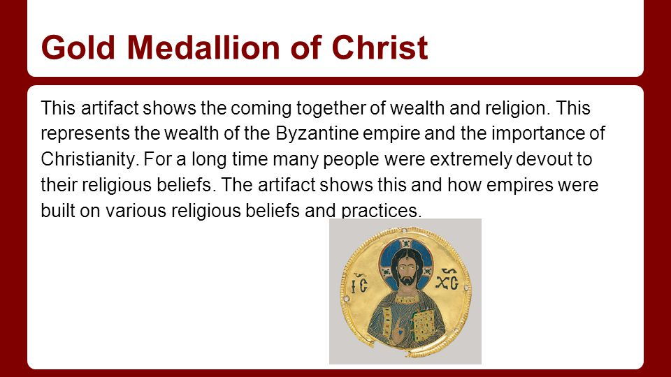 Gold Medallion of Christ