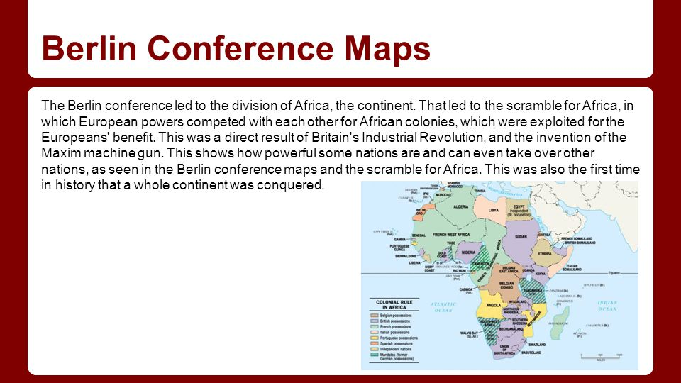 Berlin Conference Maps