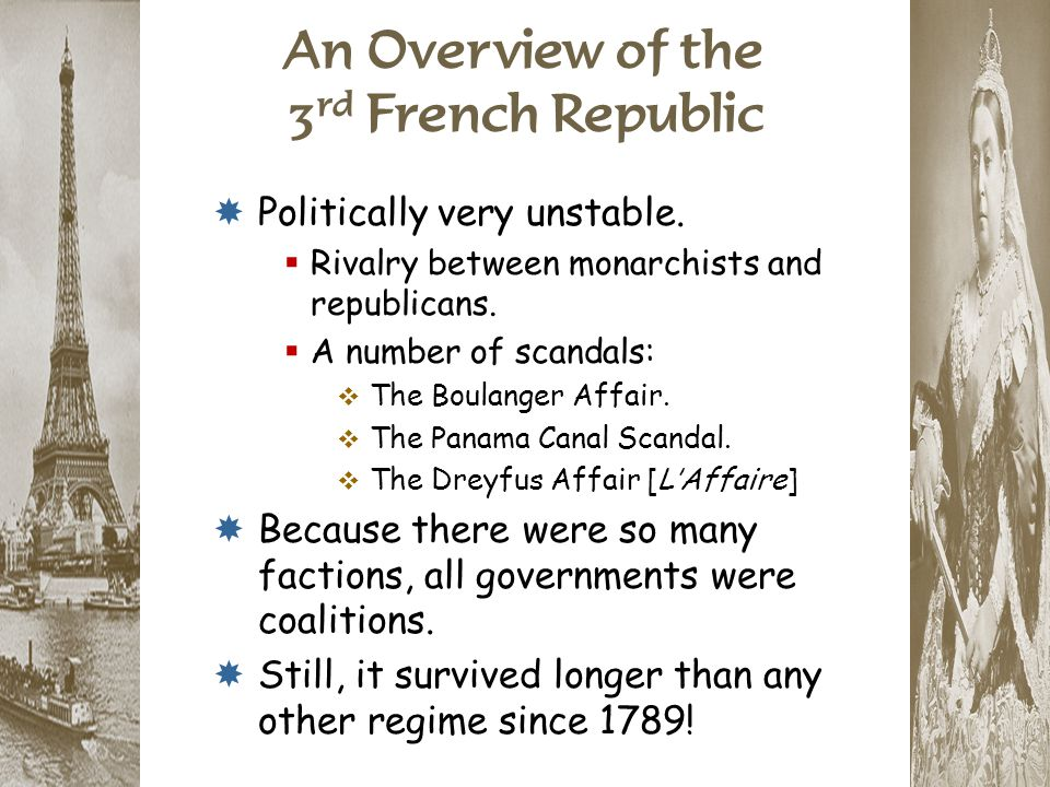 An Overview of the 3rd French Republic