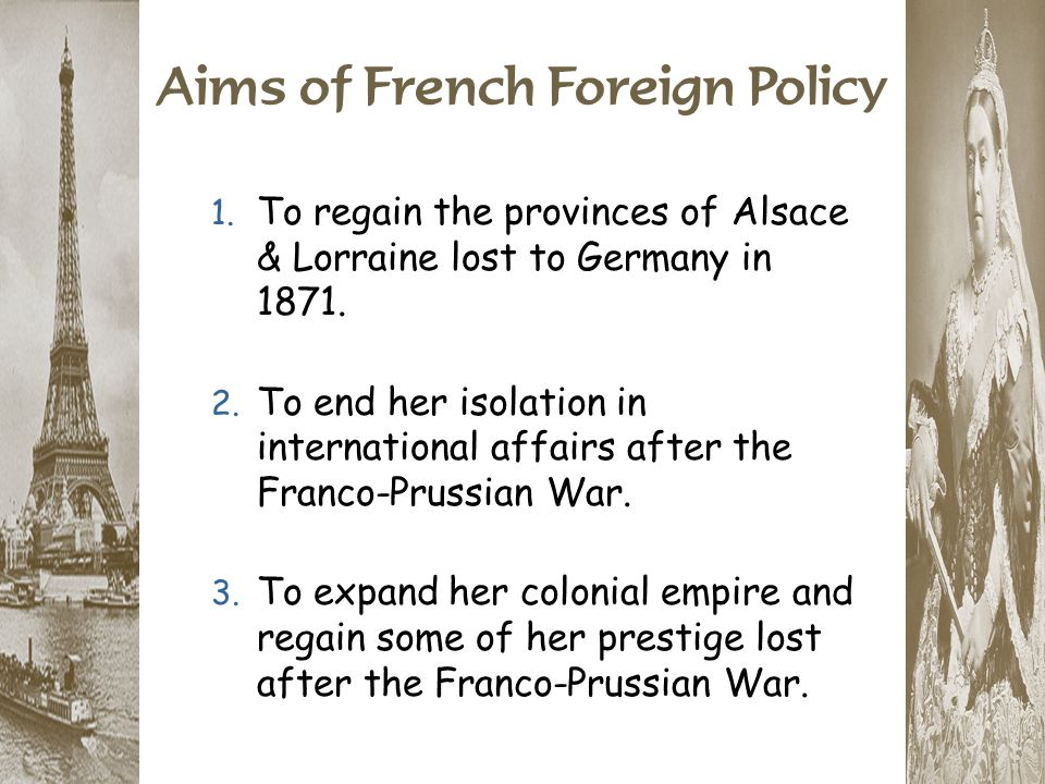 Aims of French Foreign Policy