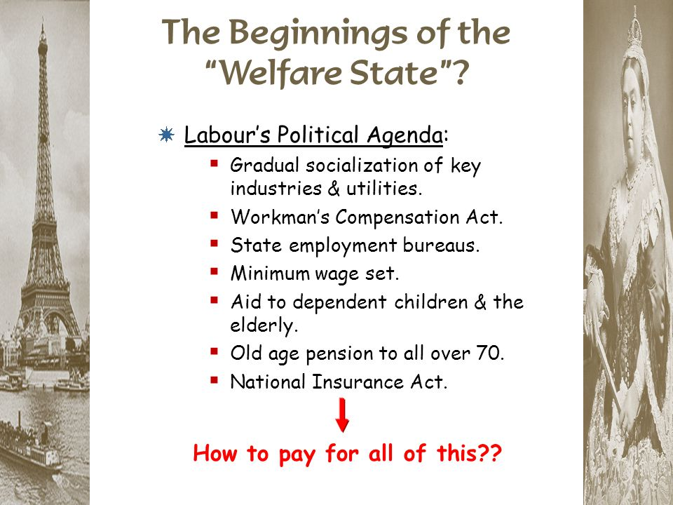 The Beginnings of the Welfare State