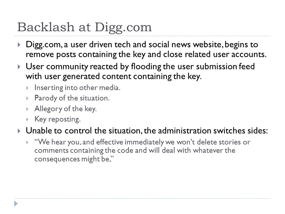 Backlash at Digg.com