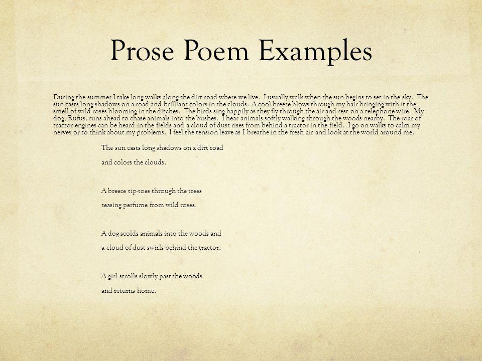 Prose Poem Examples