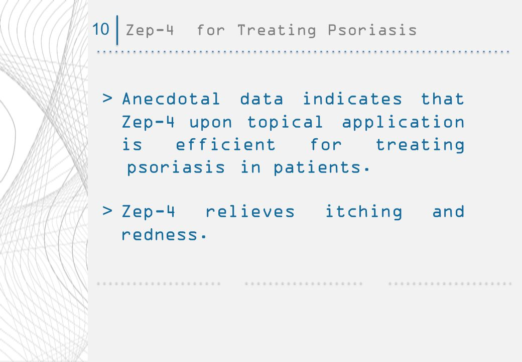 Zep-4 for Treating Psoriasis