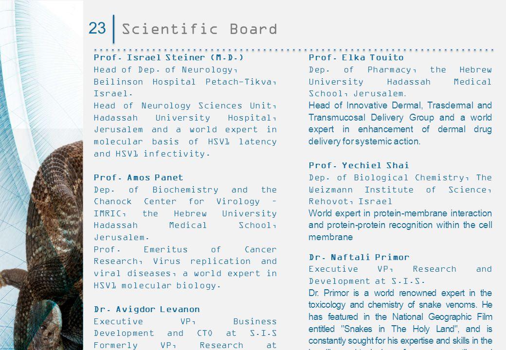 23 Scientific Board Prof. Israel Steiner (M.D.)